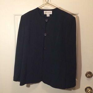 Jones New York black suit blazer silk size 10
